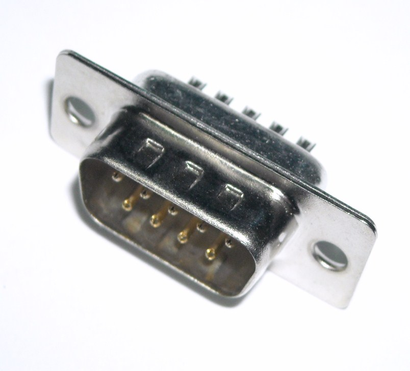 D-SUB 9 Pins male Connector for solder (DB9)