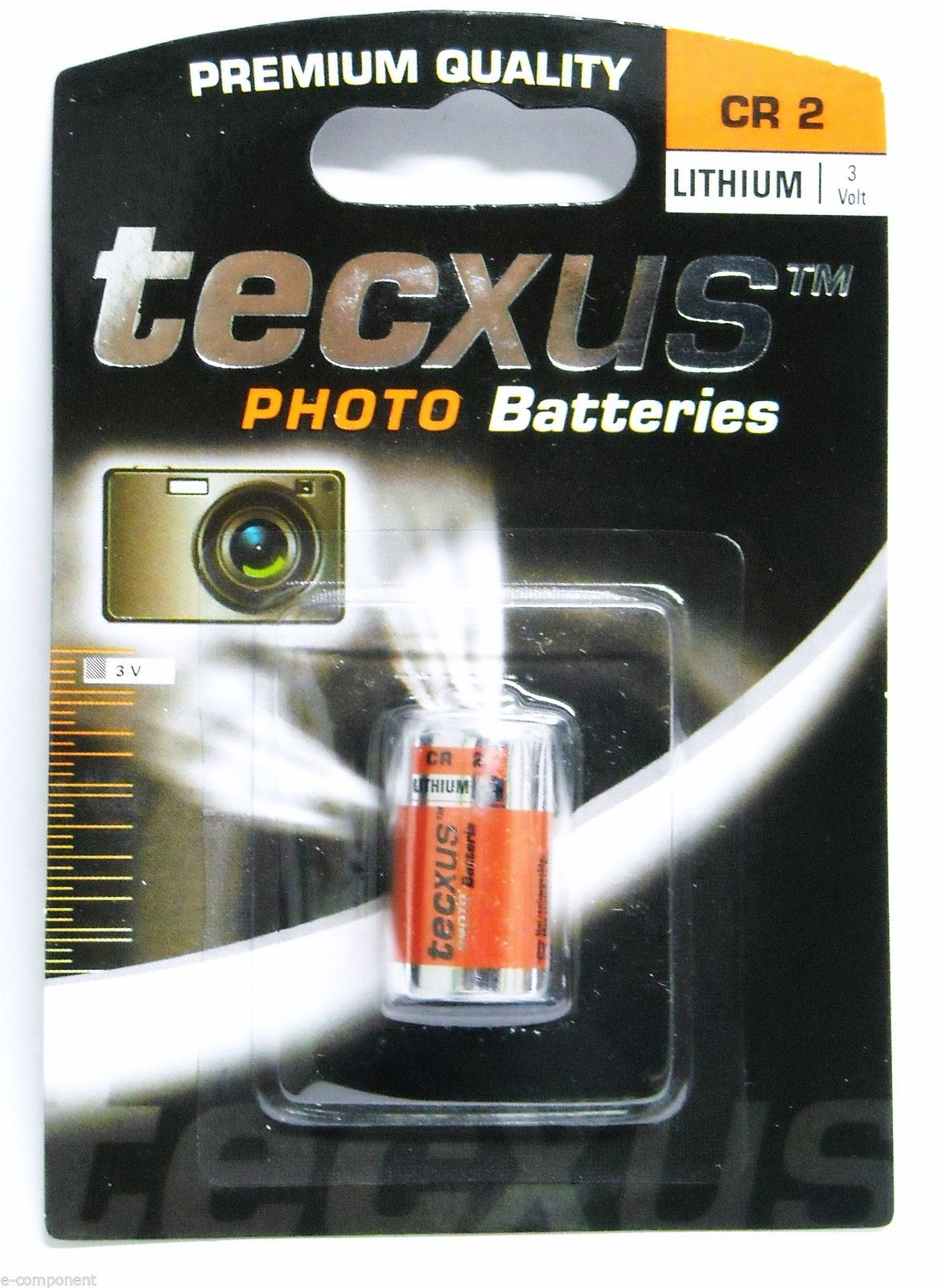 Batteria 3V AL LITIO (3V Battery LITHIUM) CR2 per fotocamera ref