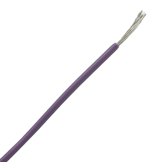 0.22 sq. mm cable for electronics isolated violet