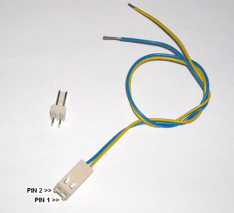 Electronic Cable compound 2-pole m + F 2.54 mm for pcb